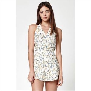 Kendall and Kylie Yellow & Blue floral romper